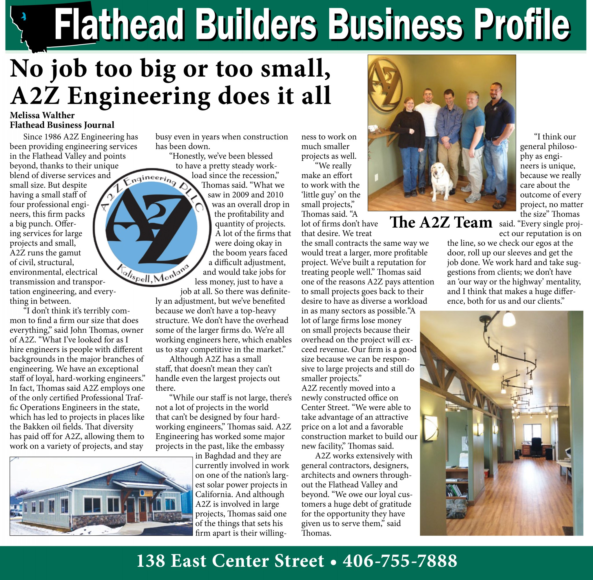 A2Z Engineering Flathead Business Journal